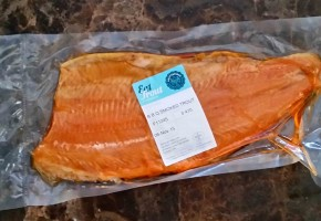 BBQ Smoked Trout Fillets Side