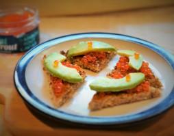 Goatsbridge Trout Caviar and Avocado Canape Recipe