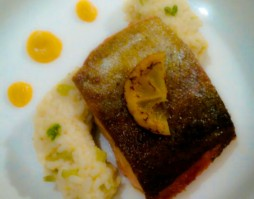 Goatsbridge Trout with Lemon Risotto and butternut squash puree recipe