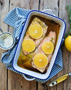Roasted Trout with Orange and Rosemary Recipe