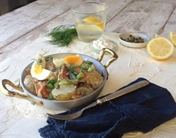 Warm Potato Salad with Smoked Trout, Capers & Lemon Mayo Recipe