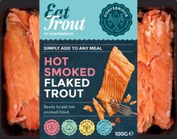 Hot smoked flaked trout