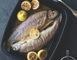Baked Rainbow Trout with Herbs