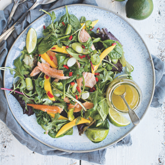 Smoked Trout Salad with Chilli, Lime and Mango