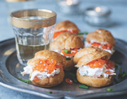 Savoury Profiteroles with Smoked Trout and Goat's Yoghurt