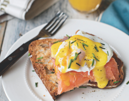 Smoked Trout with Poached Eggs and Hollandaise Sauce
