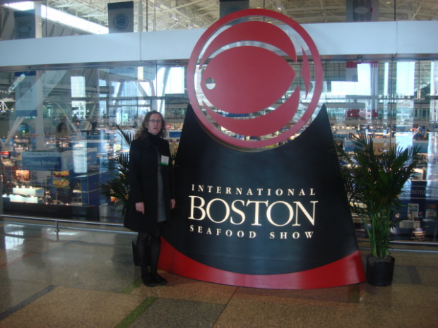 Mag Kirwan at International Seafood Tradeshow in Boston