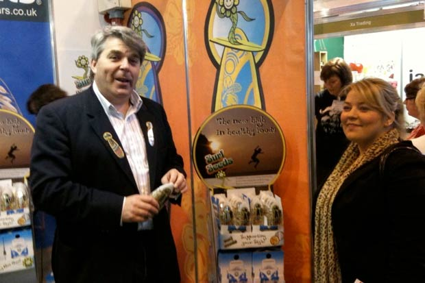 Pictured at the Surfseeds stand at NEC Birmingham